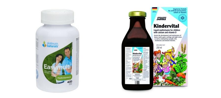 Platinum Naturals Multivitamins & Salus Kindervital